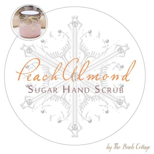 DIY Sugar Hand Scrub Printable Labels for large mouth Mason Jars by The Birch Cottage. Using Dawn Ultra Hand Renewal with Olay Peach Almond and sugar to make this sugar hand scrub, print labels for the perfect gift!