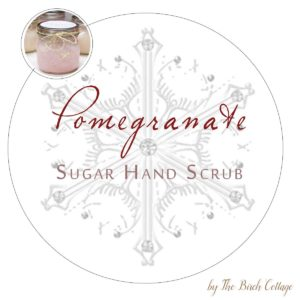 DIY Sugar Hand Scrub Printable Labels for large mouth Mason Jars by The Birch Cottage. Using Dawn Ultra Hand Renewal with Olay Pomegranate and sugar to make this sugar hand scrub, print labels for the perfect gift!