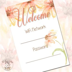 WiFi Password Printable by The Birch Cottage