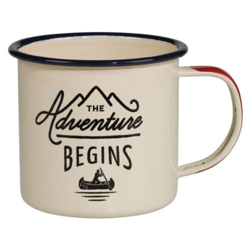 Gentlemen's Hardware The Adventure Begins Enamel Mug - 2016 Christmas Gift Guide for Men