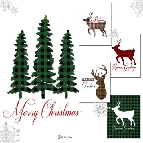 Free plaid Christmas prints are the perfect rustic whimsy for your holiday decor. Download your free plaid Christmas print!