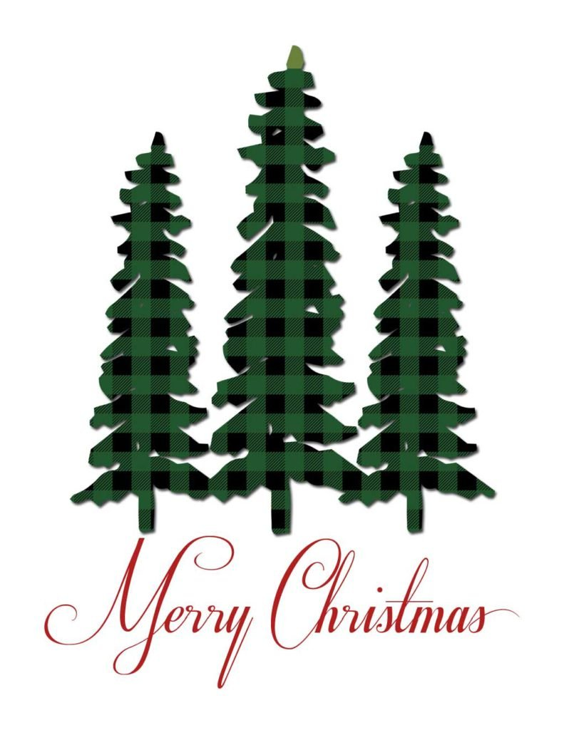 free plaid christmas prints are the perfect rustic whimsy for your holiday decor download your