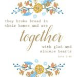 Thanksgiving Print - Acts 2 46 - by The Birch Cottage