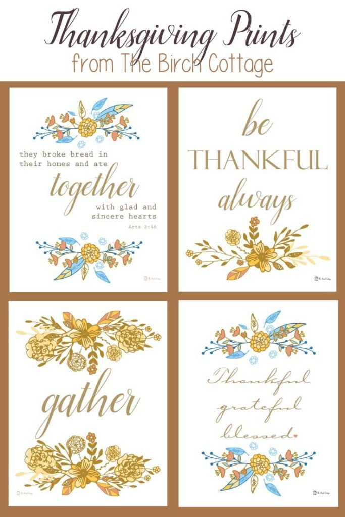 Thanksgiving Prints - Gather - by The Birch Cottage