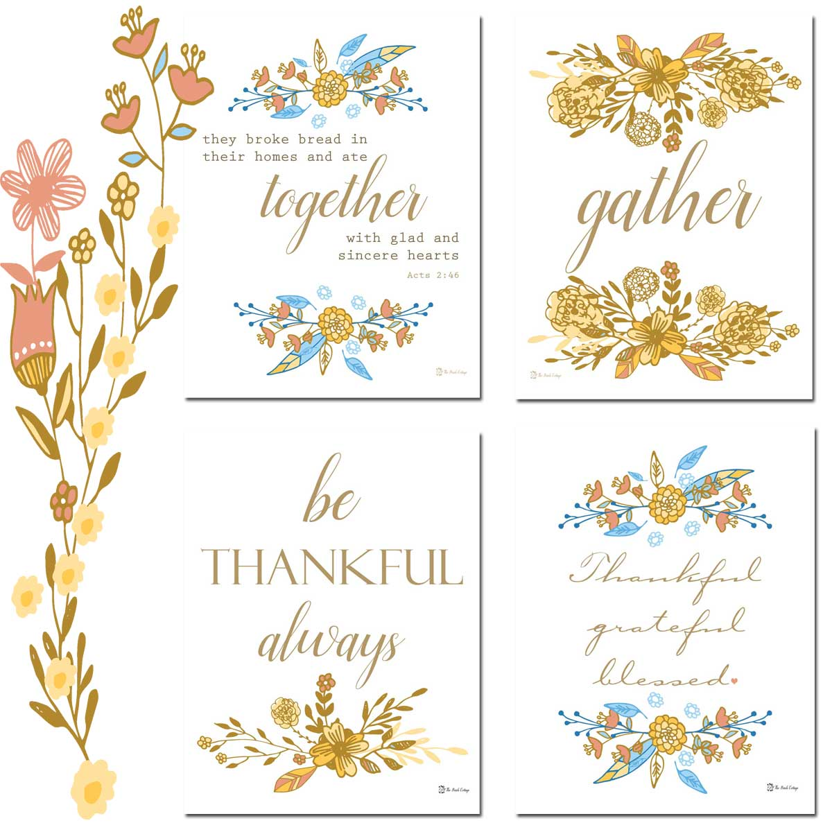 image about Thankful Printable identify No cost Printable Thanksgiving Prints - The Birch Cottage