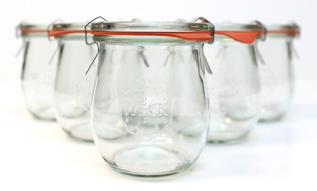 Weck Jars are perfect for homeamade jams, jellies and sauces, like butterscotch sauce or salted caramel.