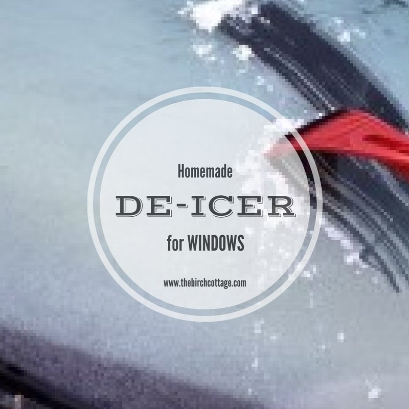 This Homemade Windshield De-Icer contains three ingredients. Say good-bye to scraping windshields!