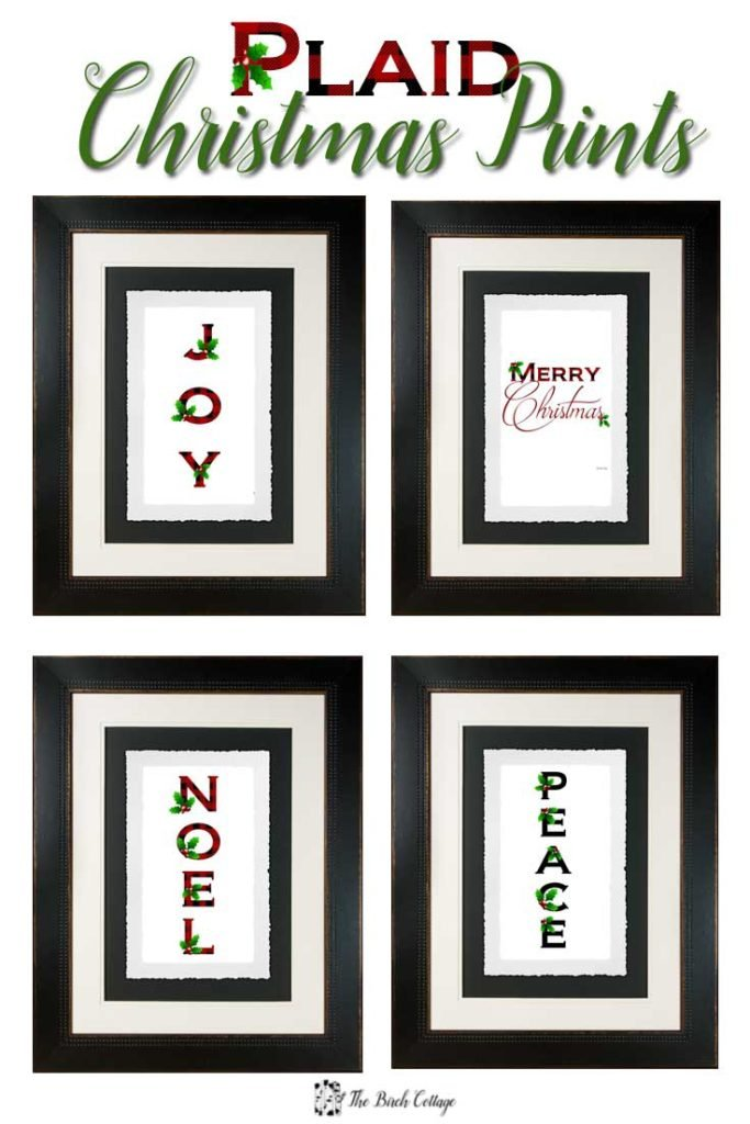 Rustic, whimsical yet classic Joy plaid Christmas prints are free to download from The Birch Cottage