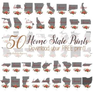 There's No Place Like Home State Prints make the perfect gift when framed!