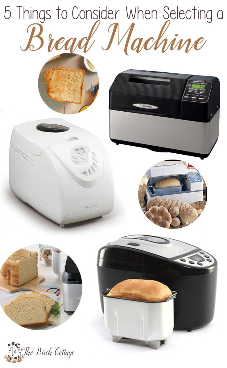 Trying to decide which bread machine is right for you? Here are 5 things to consider before selecting a bread machine.