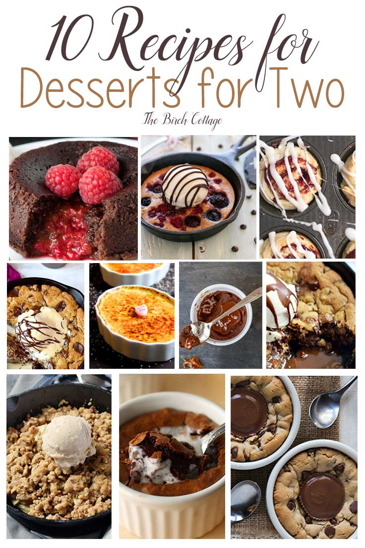 Valentine's Day desserts for two ideas from The Birch Cottage.