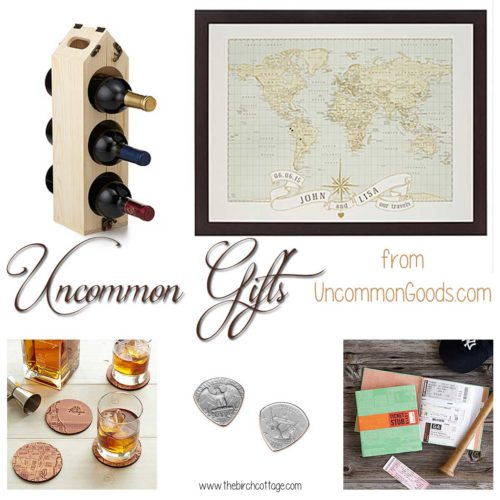 Where to find uncommon gifts? UncommonGoods.com has uncommon gifts from artisans around the world.