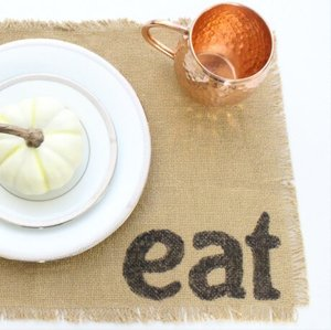 Try this Burlap Placemat tutorial from Green with Decor.