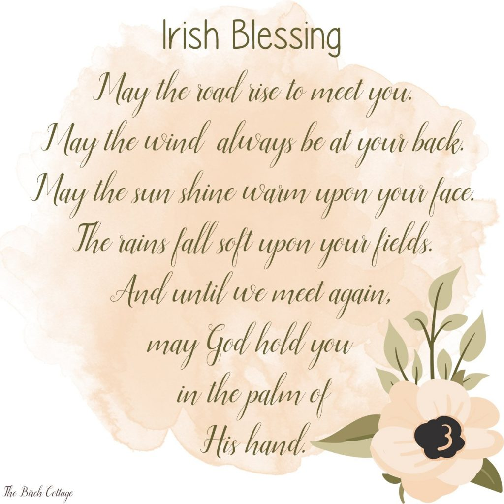 Download four free Irish Blessing Prints from The Birch Cottage.