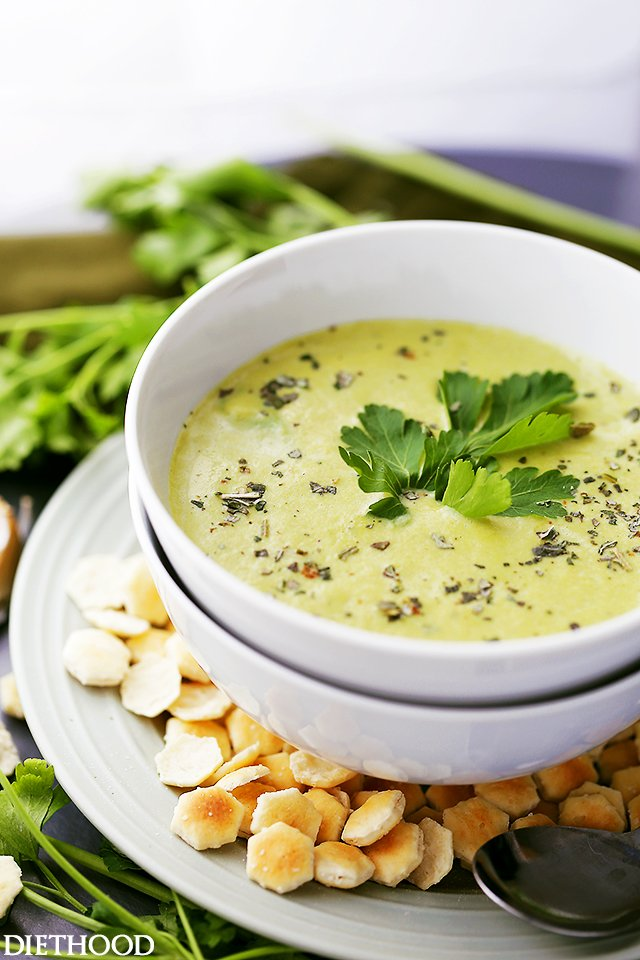 Garlic Asparagus Soup Recipe