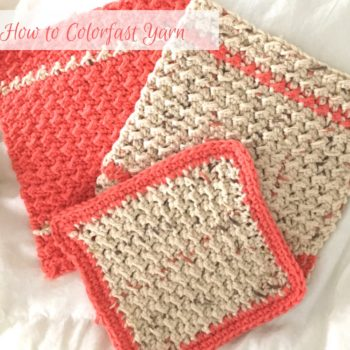 Learn how to colorfast yarn so your colors don't bleed!