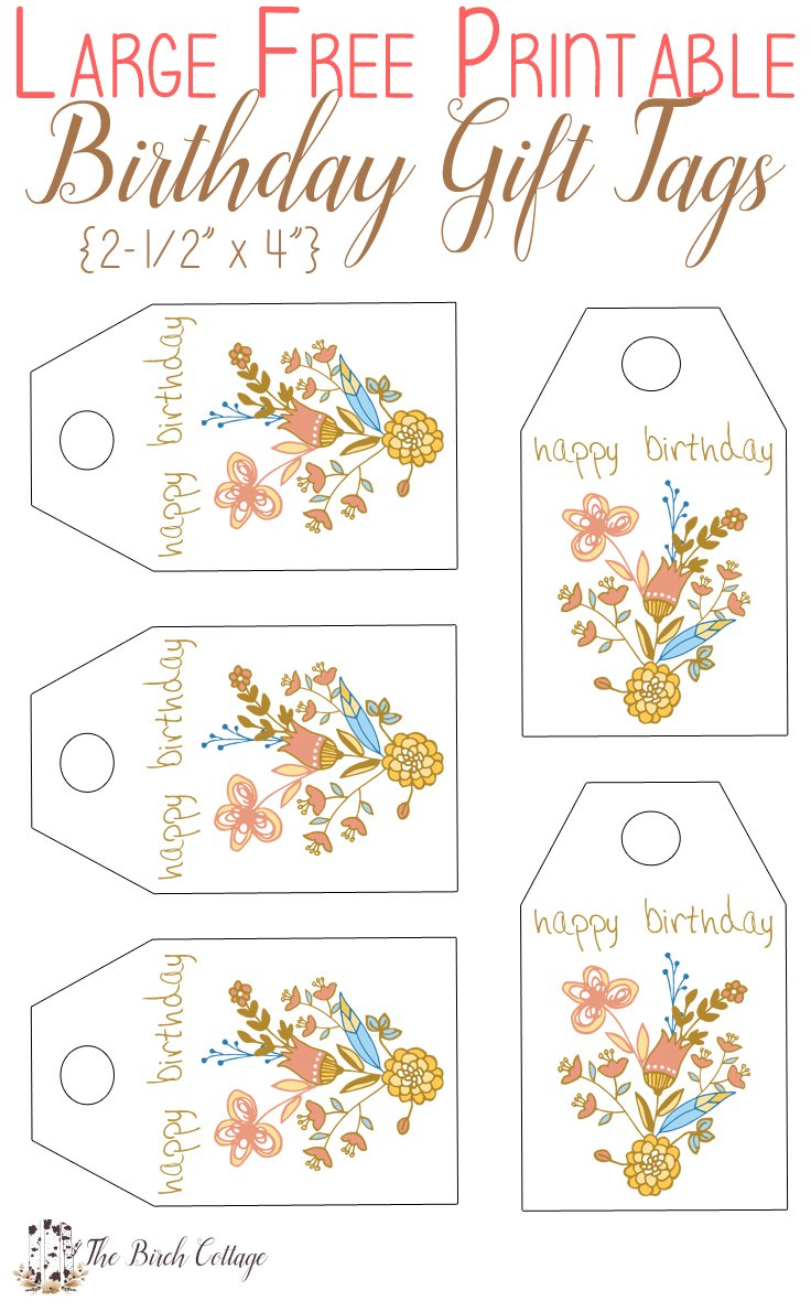 image relating to Birthday Tag Printable known as Free of charge Printable Birthday Reward Tags Accurately for Oneself! - The Birch