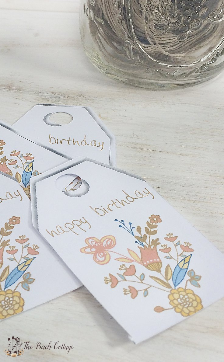 Download your large free printable birthday gift tags from The Birch Cottage!