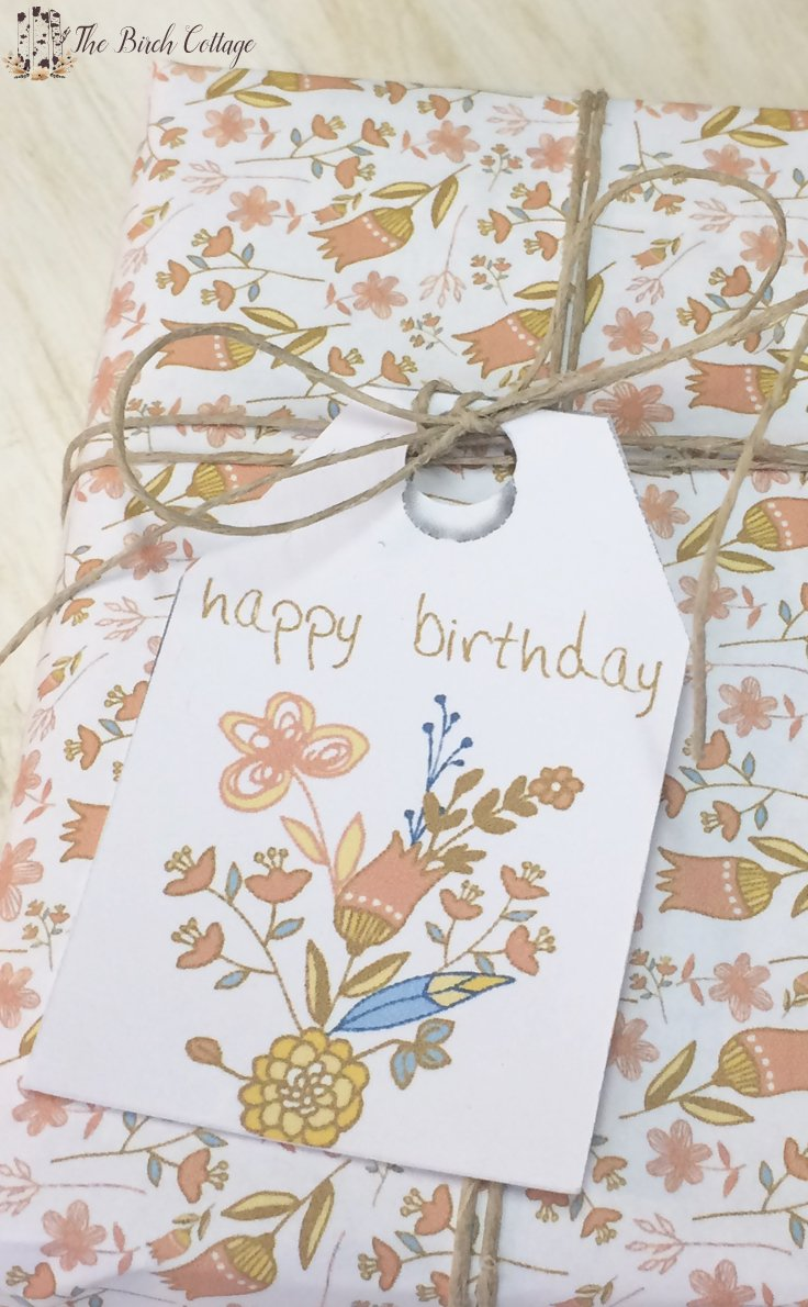 image relating to Large Gift Tags Printable titled Totally free Printable Birthday Present Tags Exactly for Oneself! - The Birch