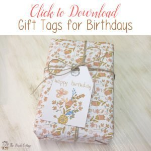 Free Printable Birthday Gift Tags Just for You!
