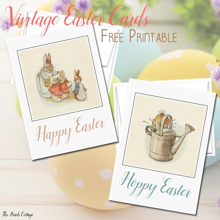 Download your free printable vintage Peter Rabbit illustration cards from The Birch Cottage