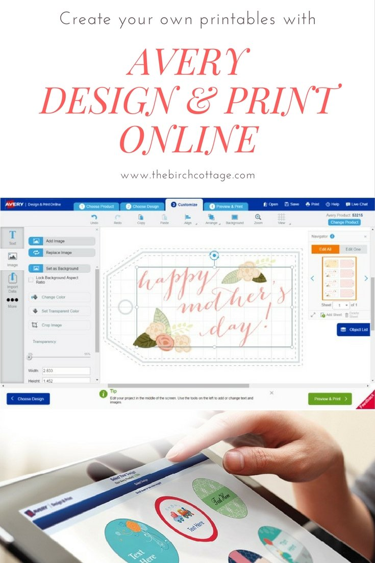 Avery Design & Print Online by The Birch Cottage