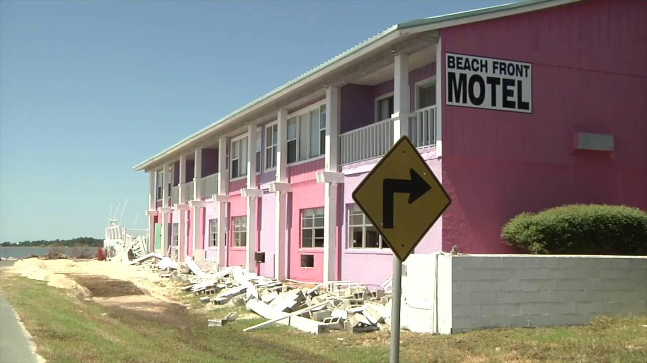 Beach Front Motel Cedar Key Florida After Hurricane Hermine