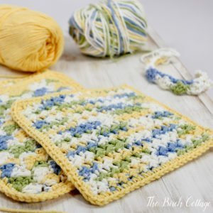 Learn How to Crochet Crunchy Stitch Dishcloth