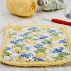 How to Crochet Textured Stitch Dishcloth