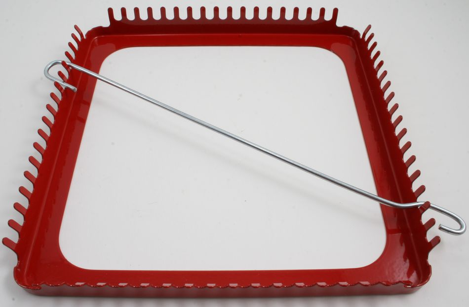 Red Metal Potholder Loom