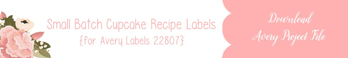 Avery Project File for Small Batch Cupcake Labels for use with Avery 22807