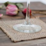 Learn to make burlap coasters from burlap ribbon by The Birch Cottage