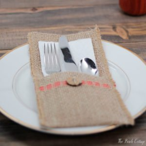 Learn How to Make Burlap Utensil Holders from Burlap Ribbon