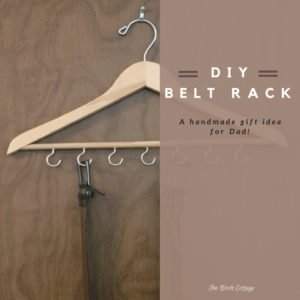 DIY Belt Rack for Father's Day