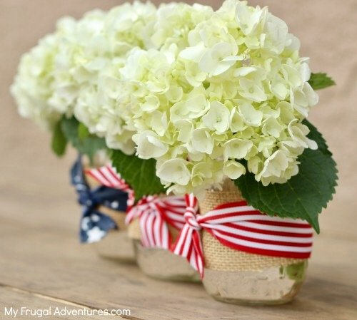 DIY Patriotic Home Decor Ideas featuring this tablescape from My Frugal Adventures by The Birch Cottage