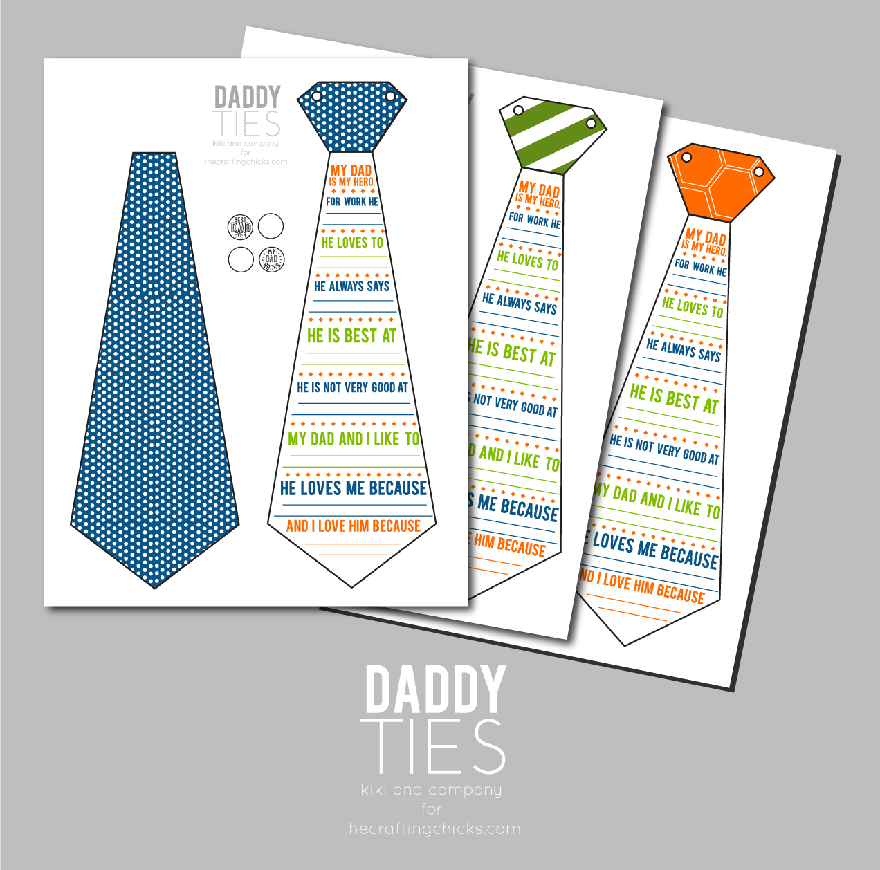 The Daddy Ties - A Handmaade Father's Day Gift Idea