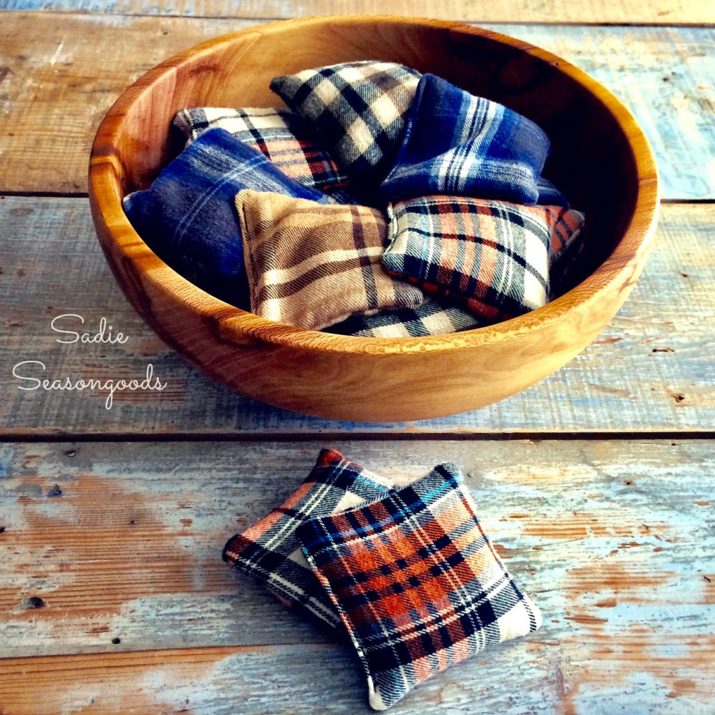 DIY Handmade Flannel Hand Warmers make a great DIY Handmade Father's Day Gift Idea!