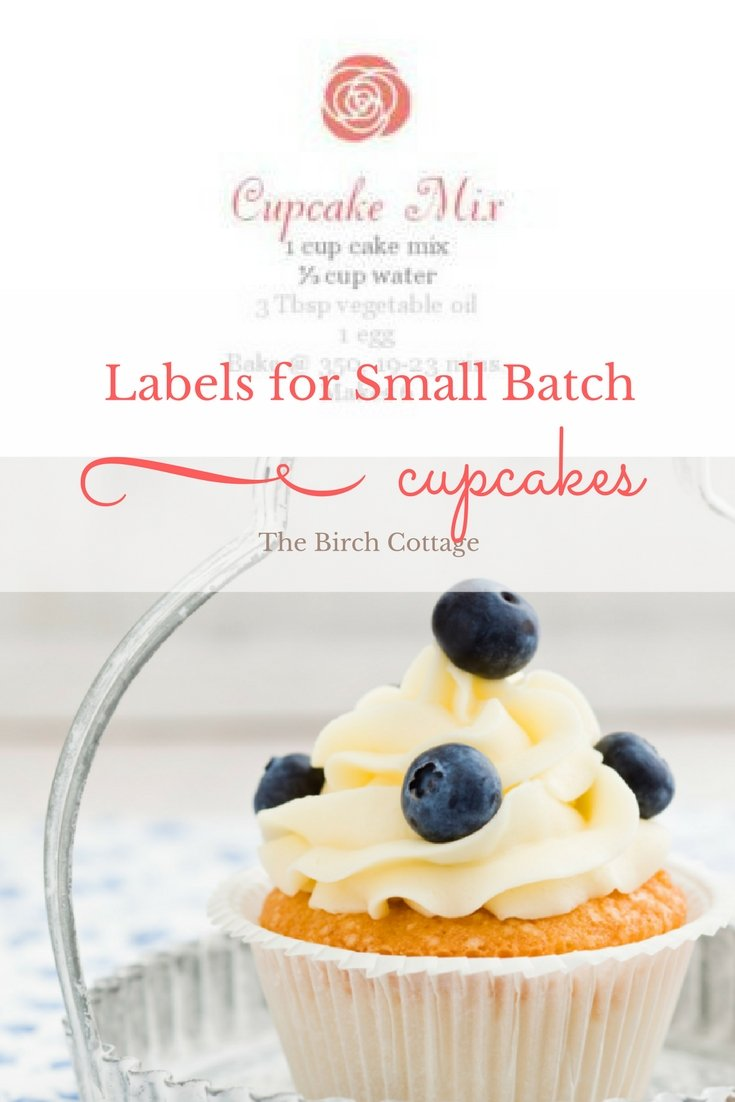 Labels for Small Batch Cupcakes by The Birch Cottage