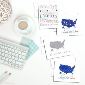 Send Letters from Home with Patriotic Note Cards