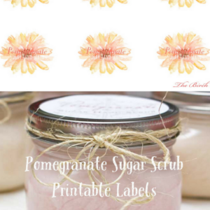 Sugar Scrub & Labels for Mother's Day Gift Giving
