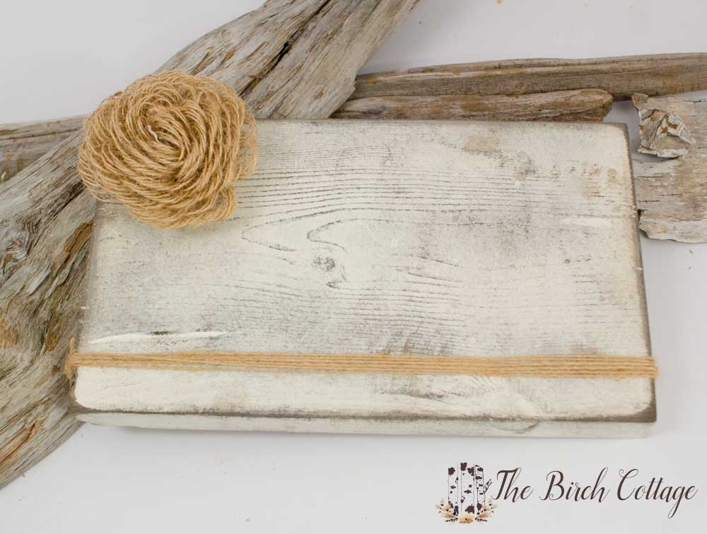 Shabby Block Frame by The Birch Cottage