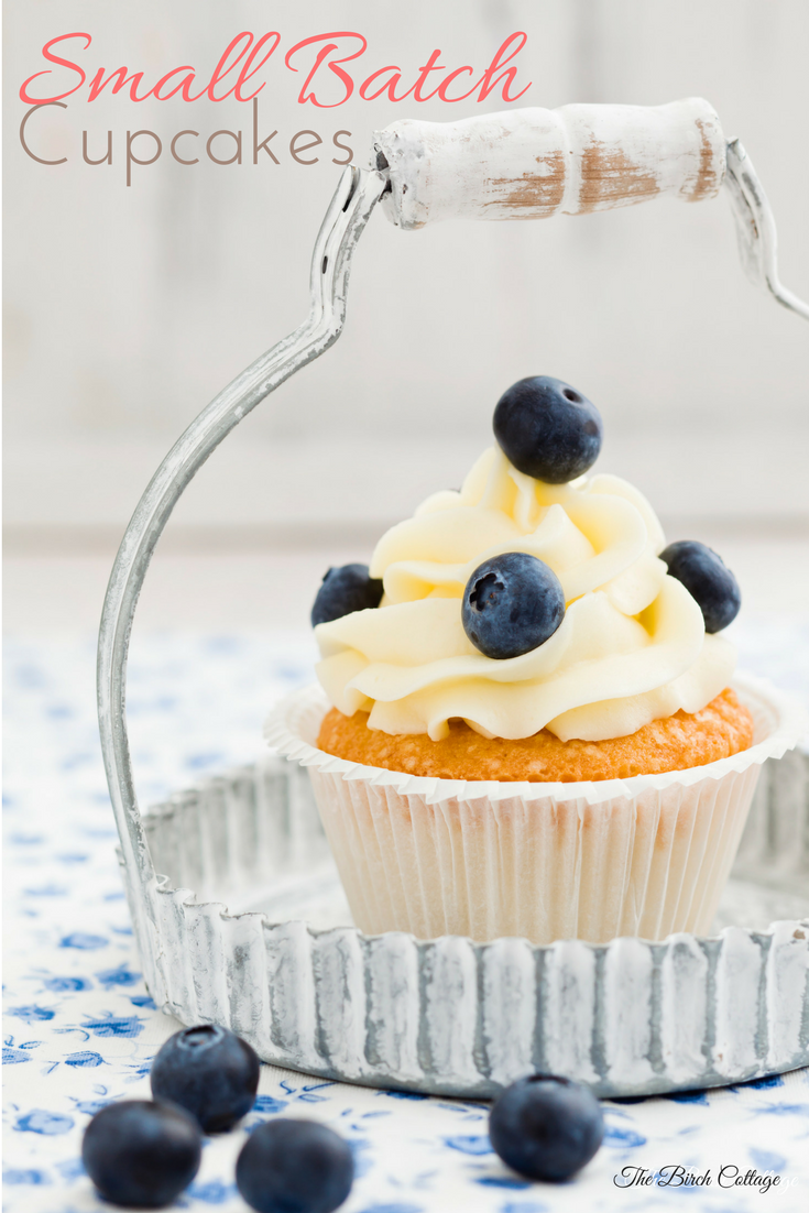 Make Small Batch Cupcakes using box cake mix for those times when 6 cupcakes is more than enough!