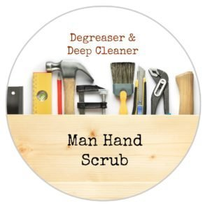 Man Hand Scrub for Dad with Labels {Perfect for Father's Day}