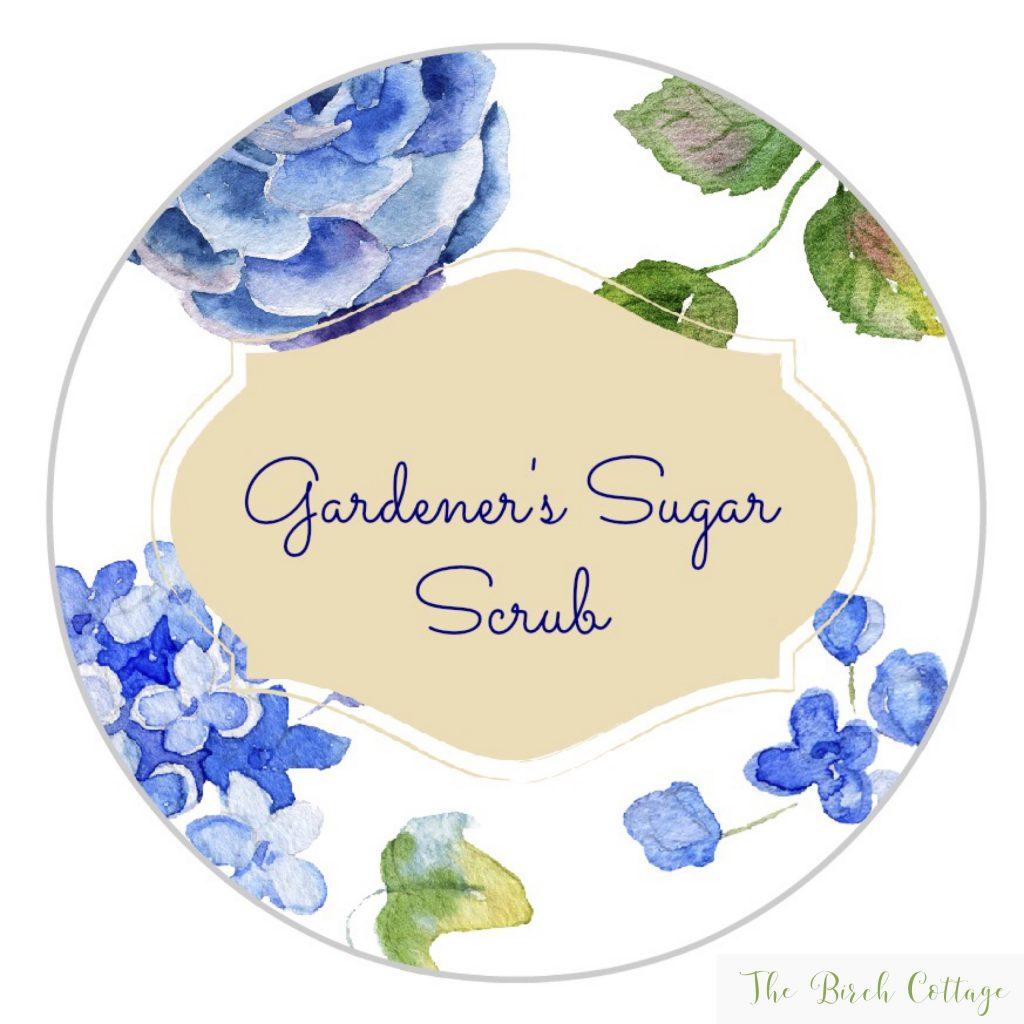 Gardener's Sugar Scrub Labels by The Birch Cottage