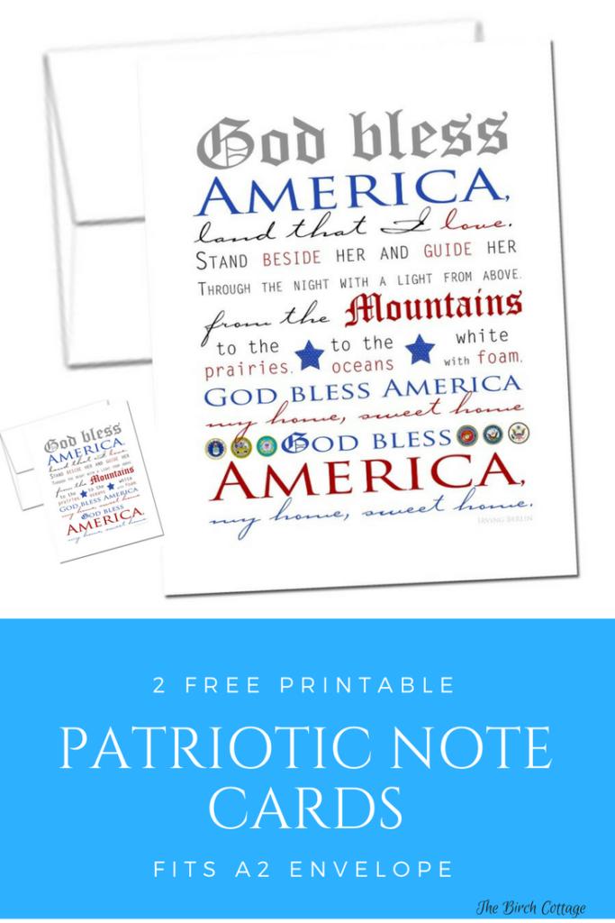 Patriotic Note Cards