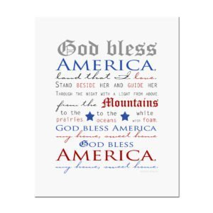 God Bless America patriotic print by The Birch Cottage