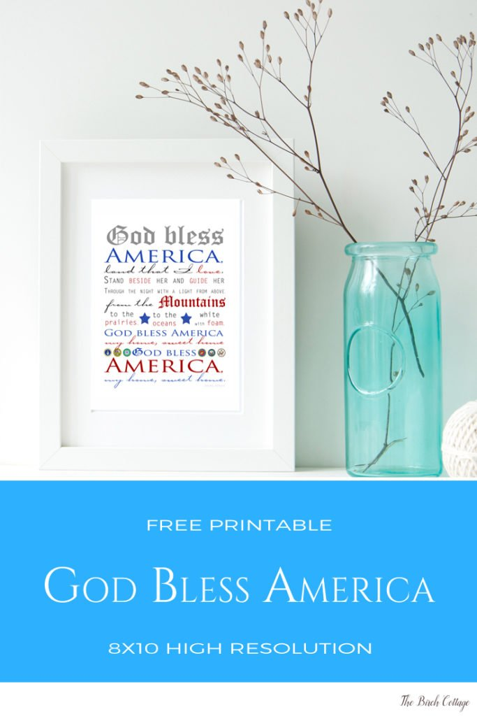 God Bless America print by The Birch Cottage