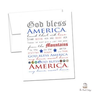 God Bless America Printable Note Cards – Helping you celebrate Independence Day!