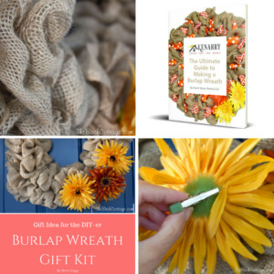Give a DIY-er a DIY Gift with a Burlap Wreath Gift Kit!