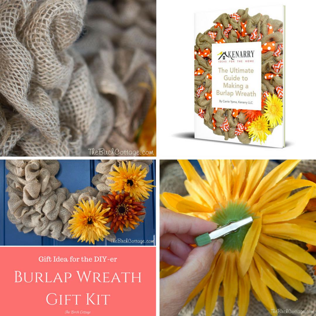 DIY Burlap Wreath Gift Kit